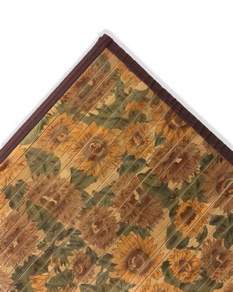 tappeto cucina tappeto cucina in legno bamboo fiori girasole misura cm 50x75