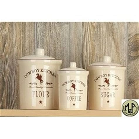 kitchen canister set m canister set cowboy kitchen