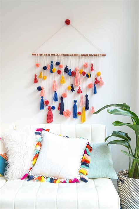ridiculously adorable pom pom tassel wall
