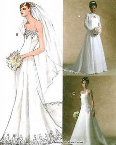 bridal wedding dress sewing pattern shrug gown strapless With sewing wedding dress