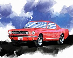 Red Mustang Fastback GT - 1965 Photograph by Mark Tisdale