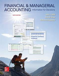 Financial And Managerial Accounting 6th Edition By Wild