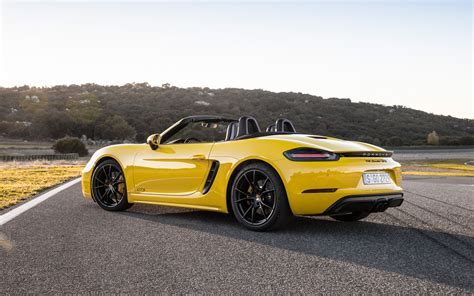 Porsche 718 Hd Picture by Wallpapers Porsche 718 Boxster Gts 2018 Rear