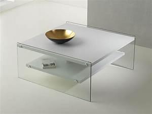 Table Basse Verre Bois : table basse en verre et bois maxim ~ Teatrodelosmanantiales.com Idées de Décoration