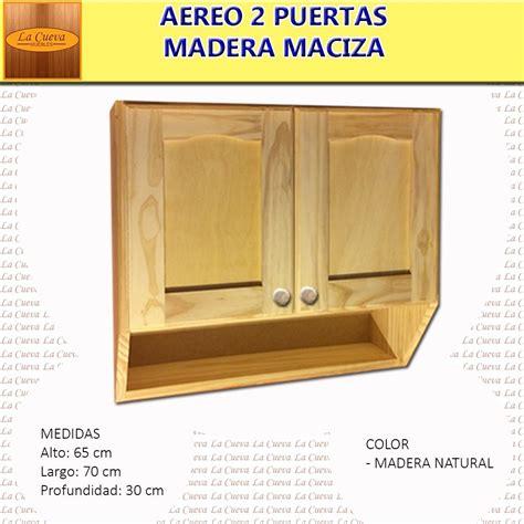 mueble de cocina aereo  puertas alacena madera lcm