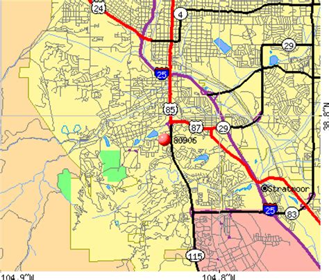 colorado springs zip code map zip code map of colorado springs zip code map