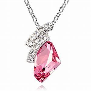 Magic Moment Style Pink Austrian Crystal Irregular Pendant ...