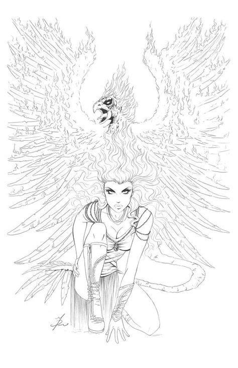 Phoenix Cover -Pencils by ~Dawn-McTeigue Cartoons Comics