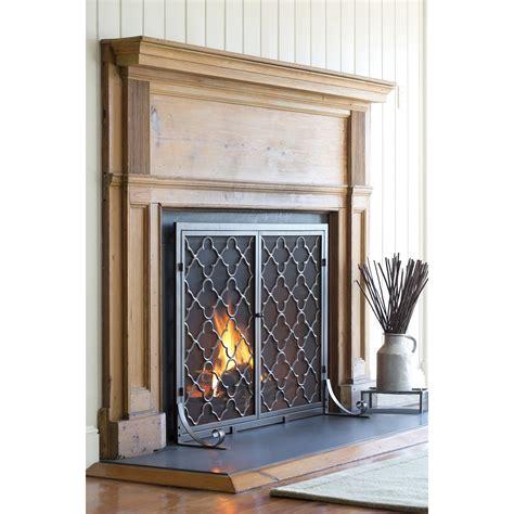 plow hearth single panel geometric fireplace screen