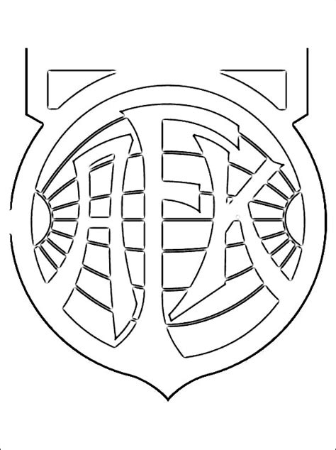 Logo Of Aalesunds Football Team  Coloring Pages