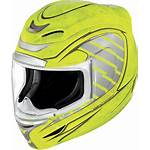 Helmet Icon Yellow Airmada Motorcycle Face Volare