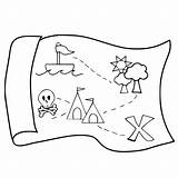Treasure Map Drawing Pirate Coloring Pages Getdrawings sketch template