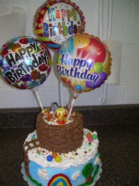 hot air balloon winnie  pooh cake