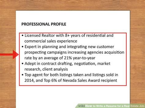 how to write a resume for a real estate 13 steps