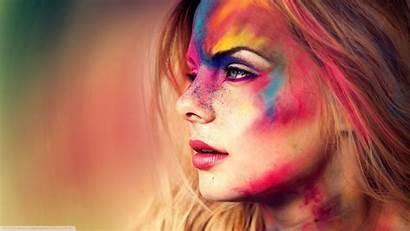 Colorful Face Holi Eyes Paint Powder Blonde