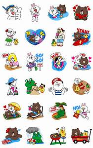 LINE Characters - Happy Vacations Line Sticker - Rumors City