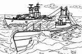 Coloring Carrier Aircraft Ship Navy Warship Nimitz Template Cvn Coloringsky Sky sketch template
