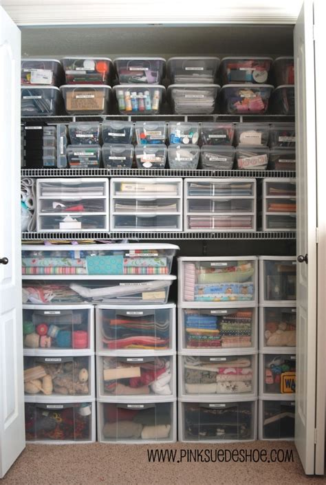 Organize Craft Closet by Home Is Where My Is Closet Reveal Before And