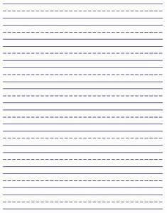 Printable handwriting paper new calendar template site for Learning to write paper template