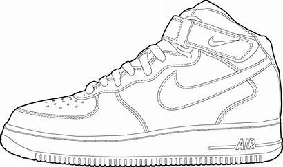 Nike Coloring Shoes Shoe Pages Outline