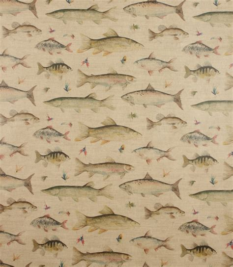Fish Upholstery Fabric by Voyage Decoration Pvc River Fish Fabric Linen Just Fabrics