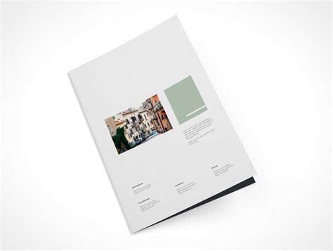 A4 Bifold Brochure Mockup A4 Bi Fold Brochure Levitation Front Cover Psd Mockup