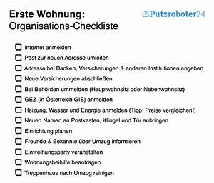 Erste Wohnung Checkliste : erste wohnung checklisten f r den umzug organisation m bel zubeh r ~ Orissabook.com Haus und Dekorationen