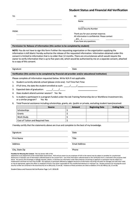 top financial aid verification form templates free to