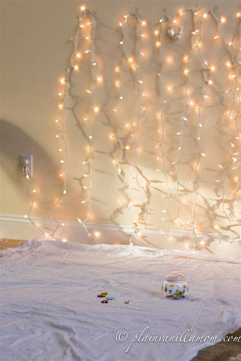 holiday lights photo backdrop tutorial plain vanilla mom
