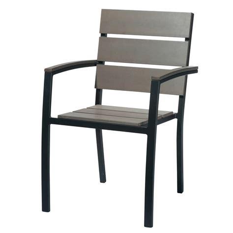 fauteuil de jardin en aluminium anthracite escale