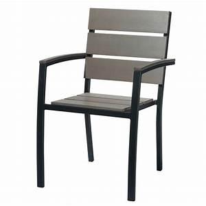 Fauteuil Jardin Aluminium : fauteuil de jardin en aluminium anthracite escale maisons du monde ~ Teatrodelosmanantiales.com Idées de Décoration