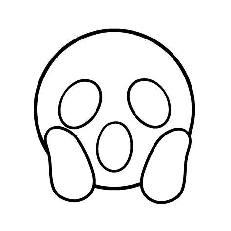 Kleurplaat Emoji Aapje by Leuk Voor Schrik Help