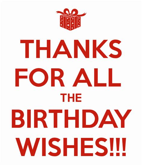 Thanks For All The Birthday Wishes!!! Poster  Mrtalented  Keep Calmomatic