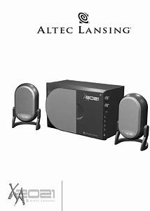 Altec Lansing Speaker Xa2021 User Guide