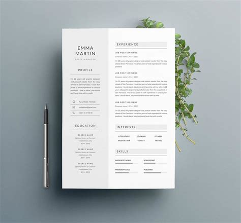 Resume Template Indesign by 13 Photoshop Illustrator Indesign Resume Templates To