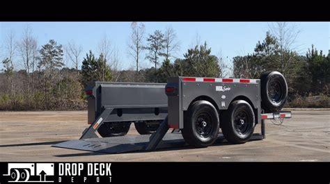 drop deck utility trailer plans 2016 hgl7610 hydraulic drop deck scissor lift