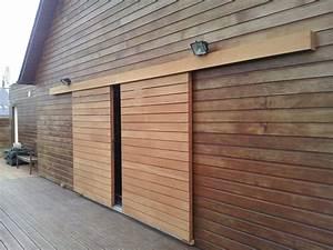 volet coulissant red cedar surzur details pinterest With porte de garage coulissante jumelé avec serrure porte extérieure