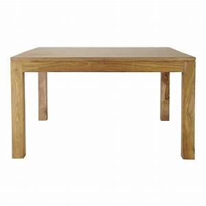 Table de salle a manger en bois de sheesham massif l 140 for Table salle a manger en bois