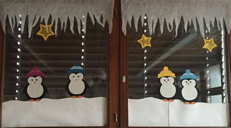 Fensterdeko Weihnachten Schule by Klassenkunst Fensterbilder Pinguine