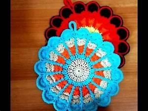 Set De Table Au Crochet : crochet manique set de table en forme de fleur facile youtube ~ Melissatoandfro.com Idées de Décoration