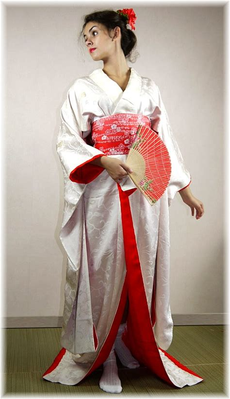 Traditional Japanese Wedding Kimono by Japanese Traditional Wedding White Silk Kimono 1970 S