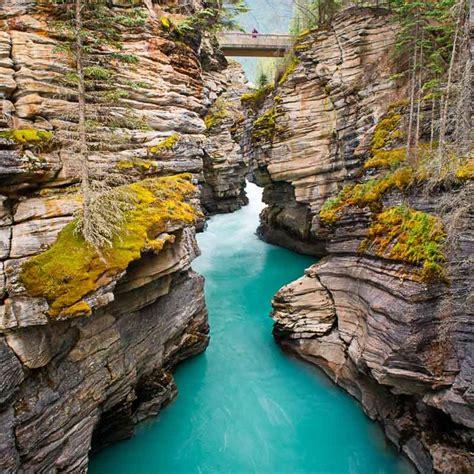 Beautiful World Athabasca Falls At Dusk Jasper Alberta