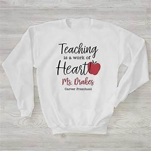 Inspiring Teacher Personalized Hanes Crewneck Sweatshirt