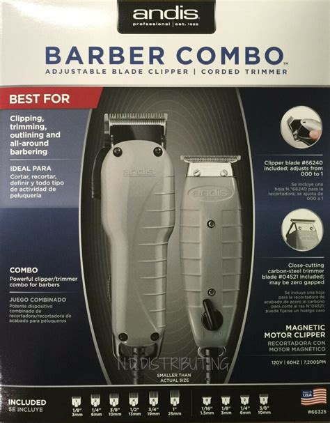 andis barber combo  clipper envy trimmer  outliner