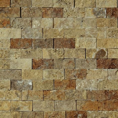 travertine kitchen wall tiles 1 x 2 split mosaic tile scabos travertine honed wall 6357