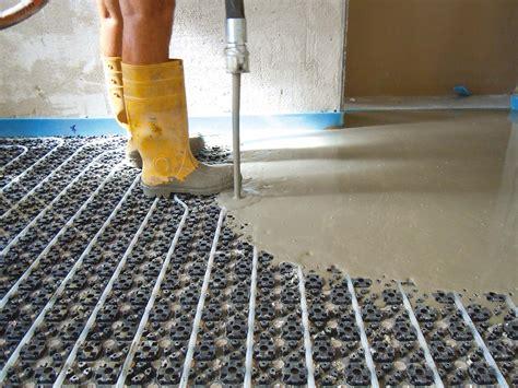 tipi di riscaldamento a pavimento slim il massetto radiante a basso spessore