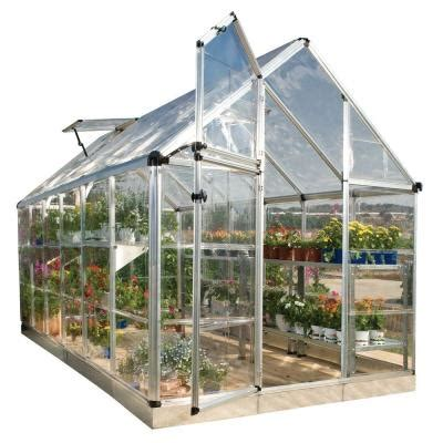 grow ls home depot palram snap and grow 6 ft x 12 ft silver polycarbonate