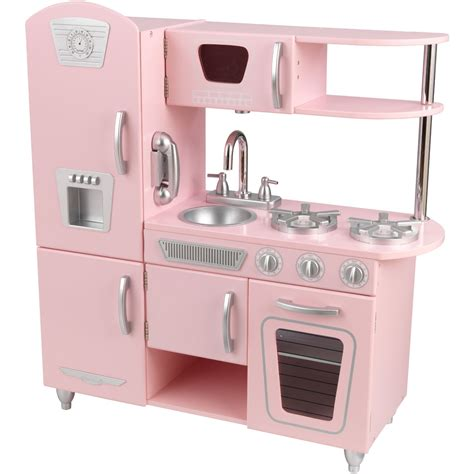kidkraft retro kitchen lightning deal kidkraft vintage kitchen in pink at 3pm