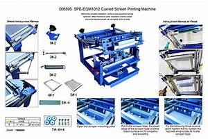 Us Stock Manual Cylinder Curved Screen Printing Press