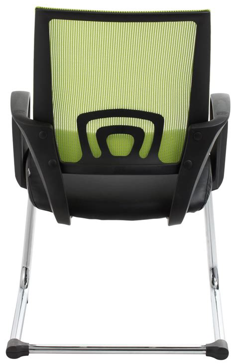 view green mesh visitor waiting room chair office stock